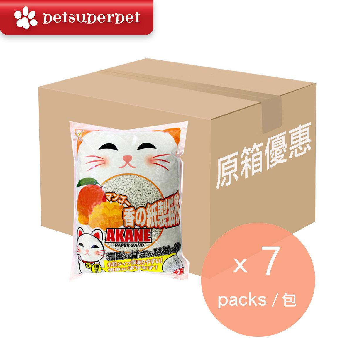 【Full Case】Mango Paper Cat Litter 7L x 7