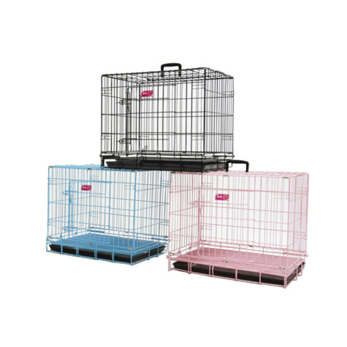 3 Feet Low Carbon Steel Folding Pet Cage - Black