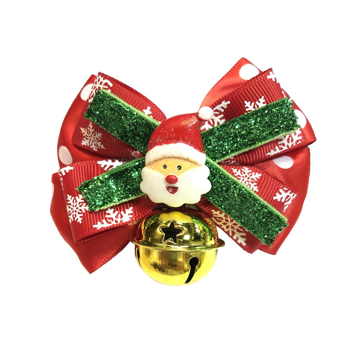 聖誕老人卡通頭像寵物可調較頸圈