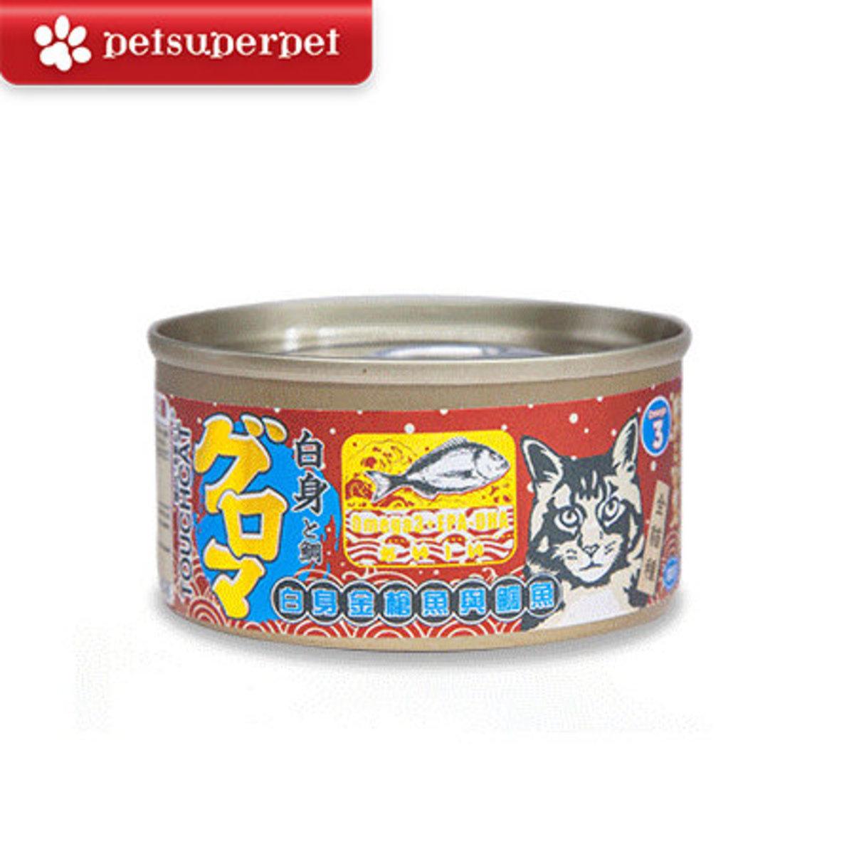 日本白身金槍魚與鯛魚 貓罐頭 (平行進口貨品) - 85g