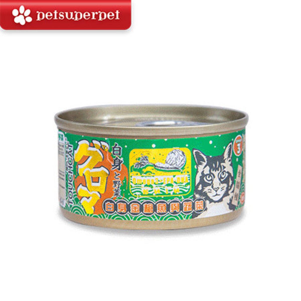 日本白身金槍魚與蔬菜 貓罐頭 (平行進口貨品) - 85g