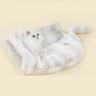 貓睡袋 - 水晶絨,灰白色