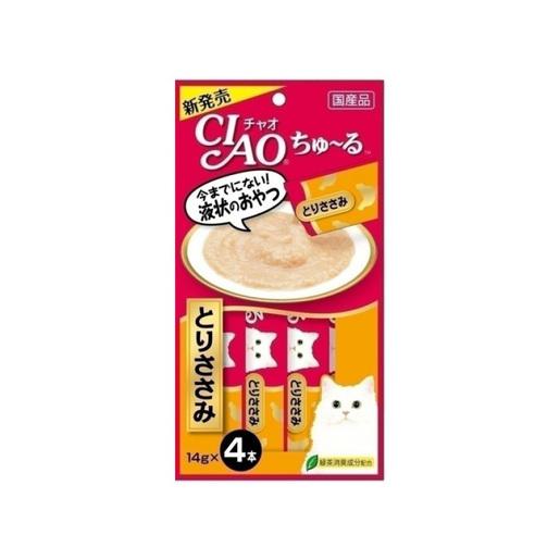 日本貓咪肉泥棒・三文魚 + 雞肉醬 - 4支裝 (平行進口貨品)