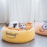 Monster Pet Cushion - Sam, Yellow