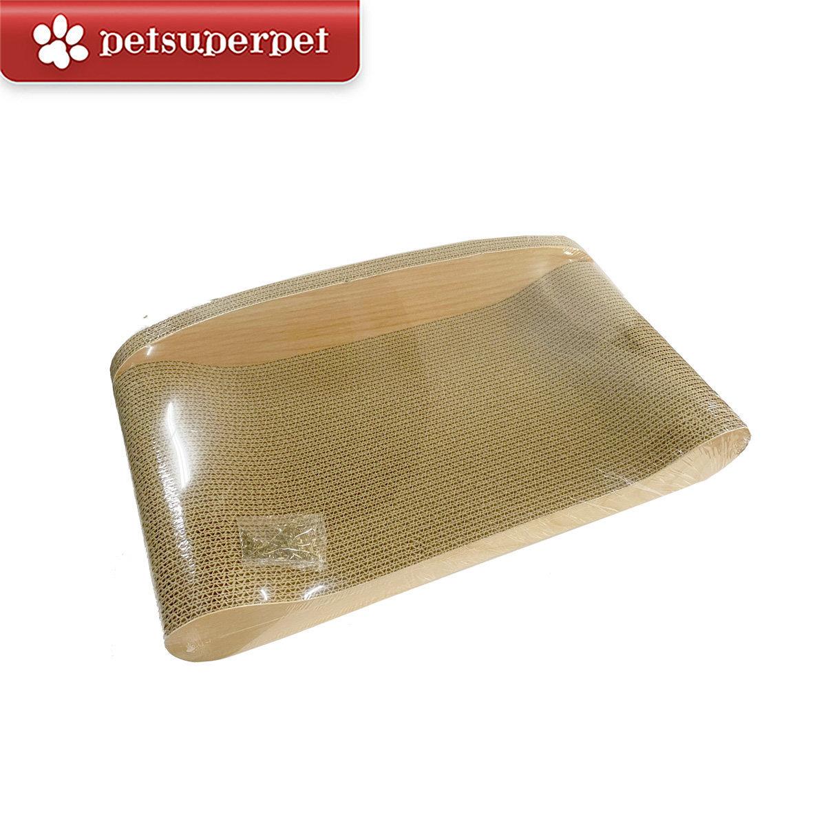 Cat Scratcher Sofa - Wooden pattern (L) (With 1 pack Catnip)