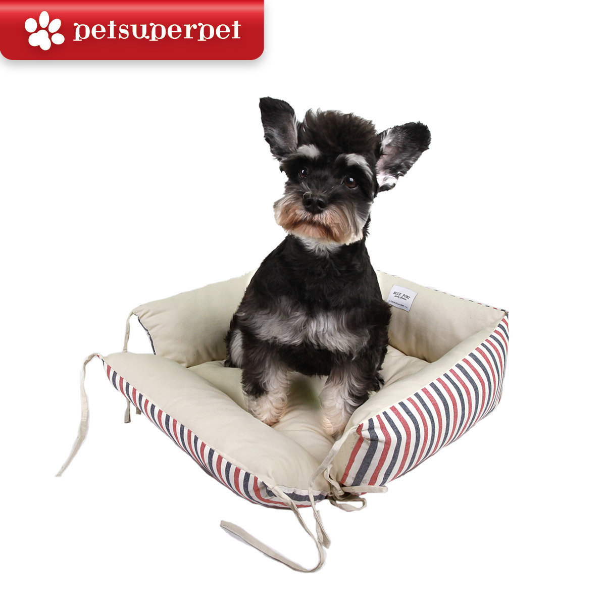 Red & Blue Striped Pet Couch (Parallel Import Goods)