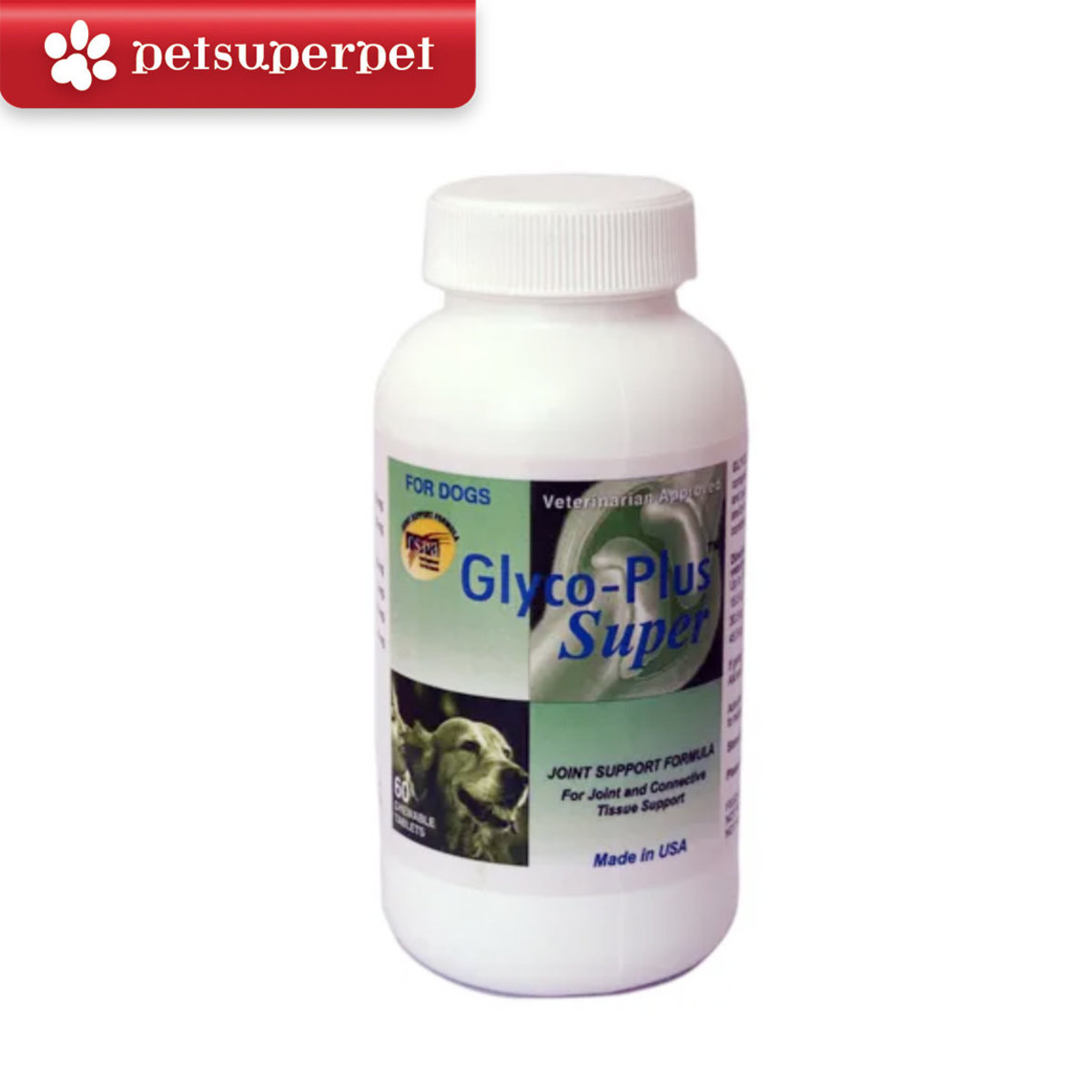 SAIQUIN Glyco-Plus Super (Joint Support Formula for Dogs) - 60 Tablets