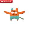 Plush Sounding Dog Toy (Little Monster Series - Sam, Orange)