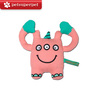 Plush Sounding Dog Toy (Little Monster Series - George, Pink)