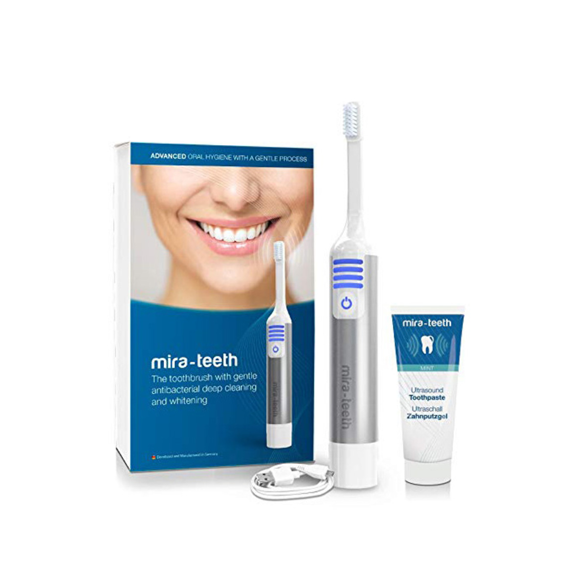 German Ultrasound Toothbrush Starter Kit (USB charging)