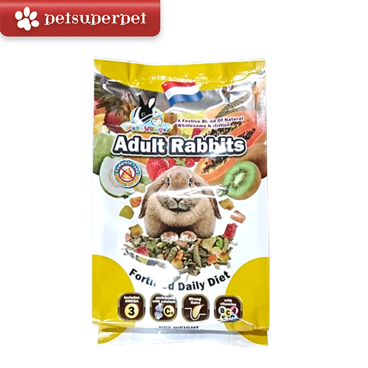 Adult Rabbits Fortified Daily Diet 1000g