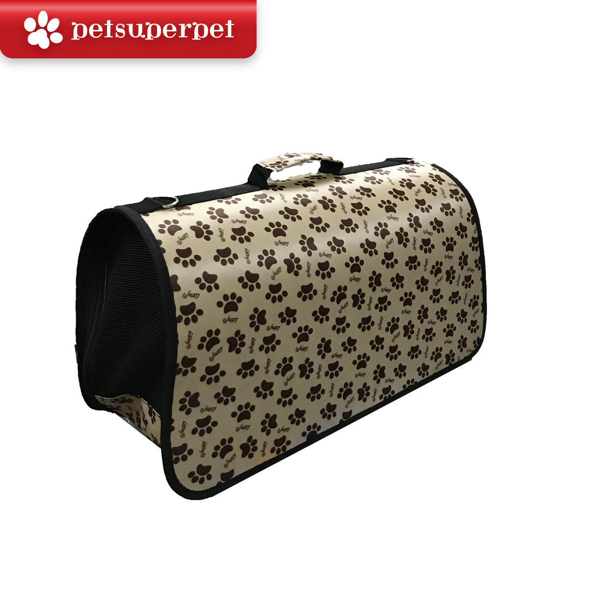 Brown footprint pet bag