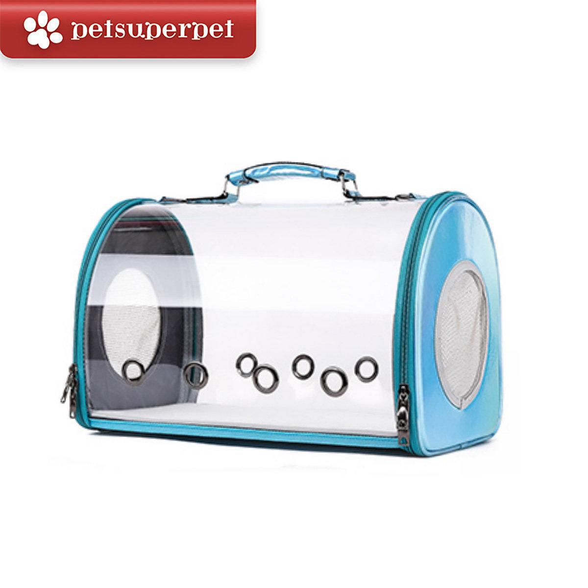 Transparent Pet Carrying Case - Blue