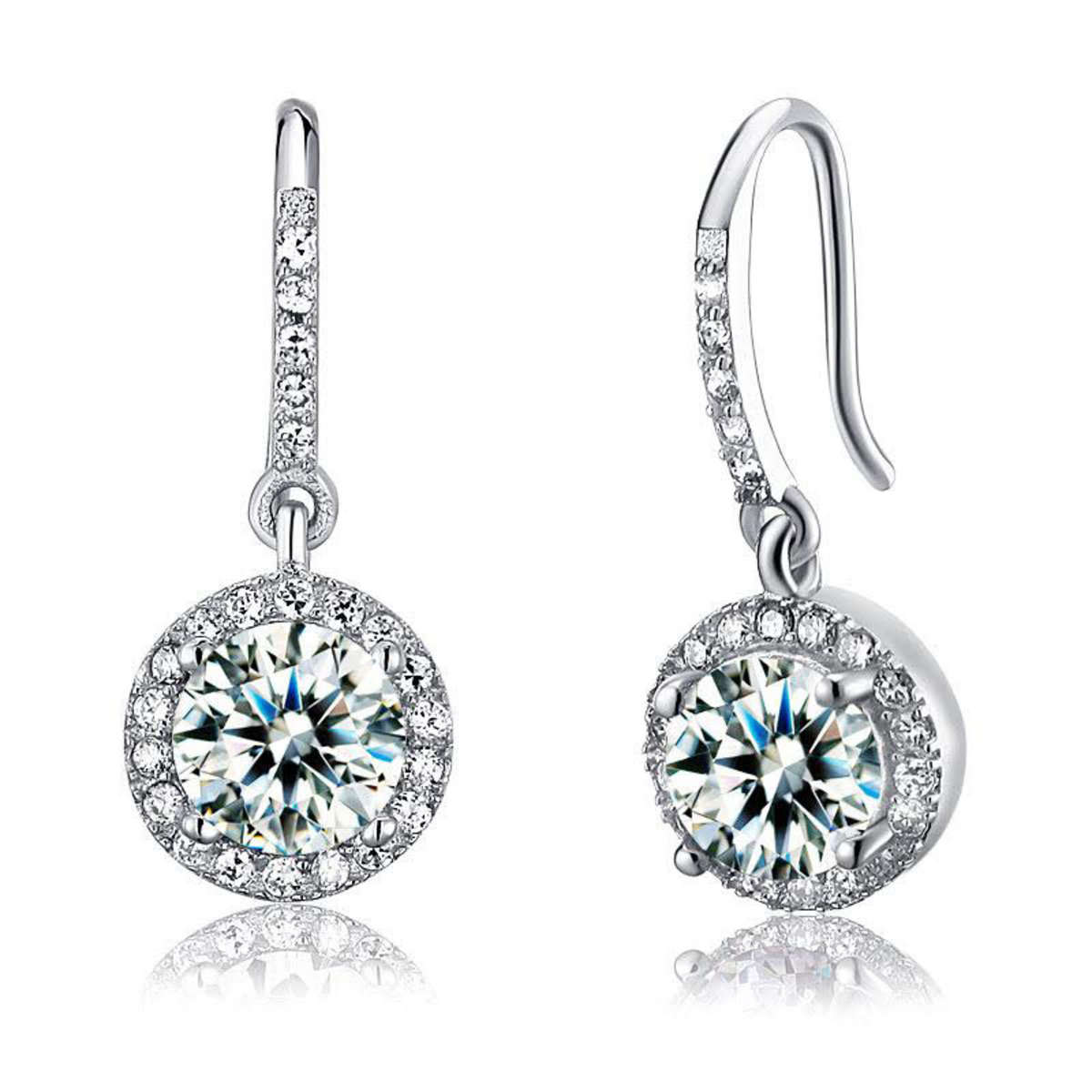 925 Silver tear Drop Bridesmaids Dangle Stariiz Earrings