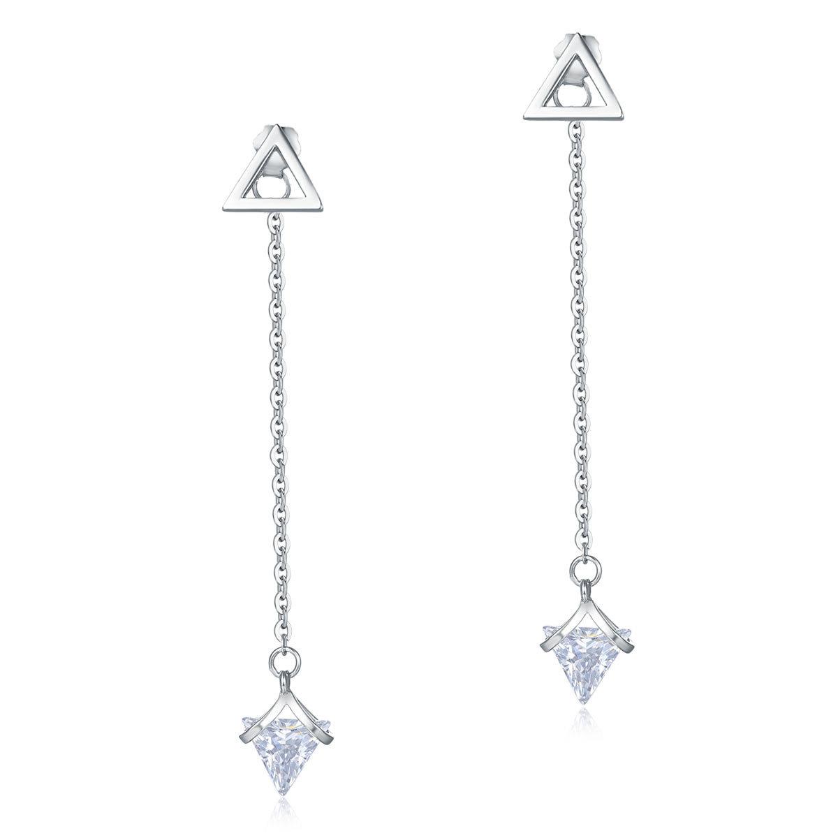 Elegant 925 Pure Silver Earrings