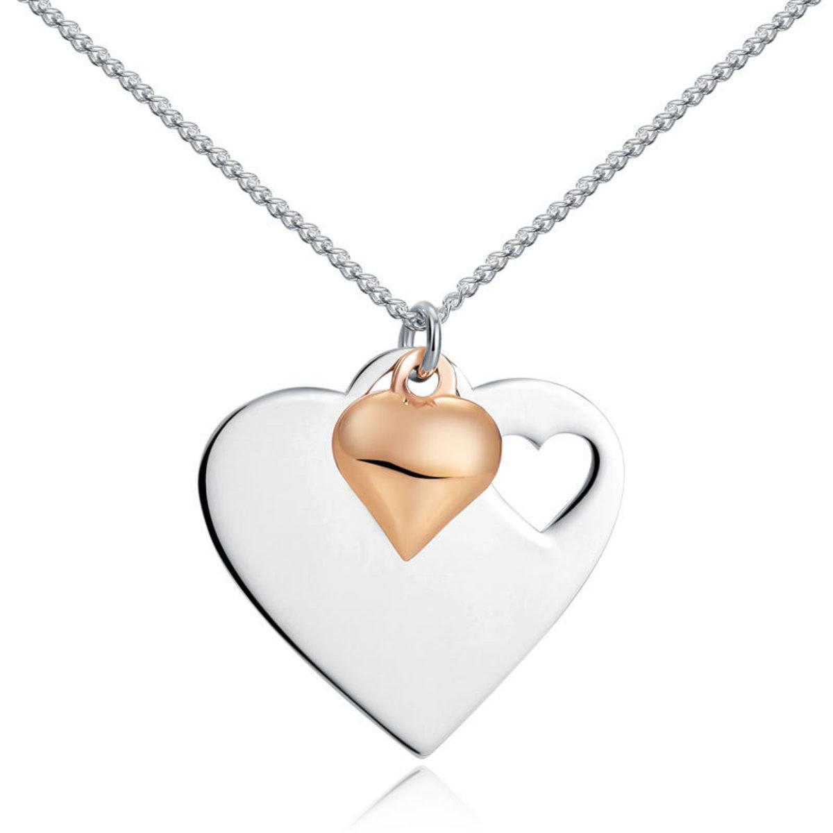 【甜蜜暗示】925純銀 Heart心形吊牌項鏈頸鏈