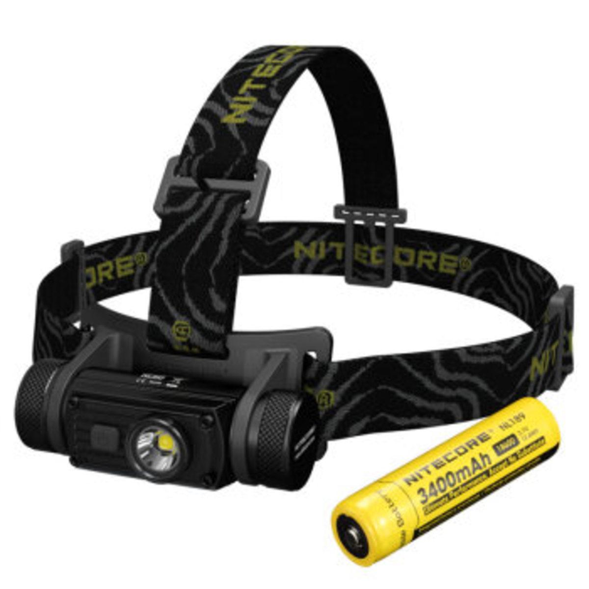 港行 HC60 白光 頭燈 套裝 NL189 18650 電池 USB 充電
