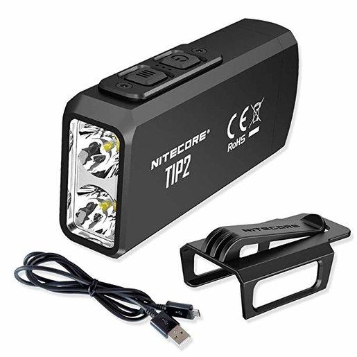 2019 TIP2 黑色 720流明 USB充電  雙核磁吸鎖匙燈