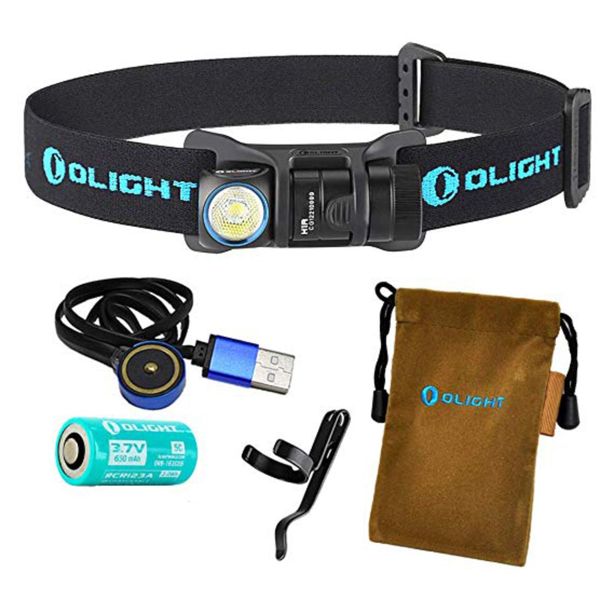港行 H1R NOVA 頭燈 600流明 USB 充電 RCR123A 電池 手電筒