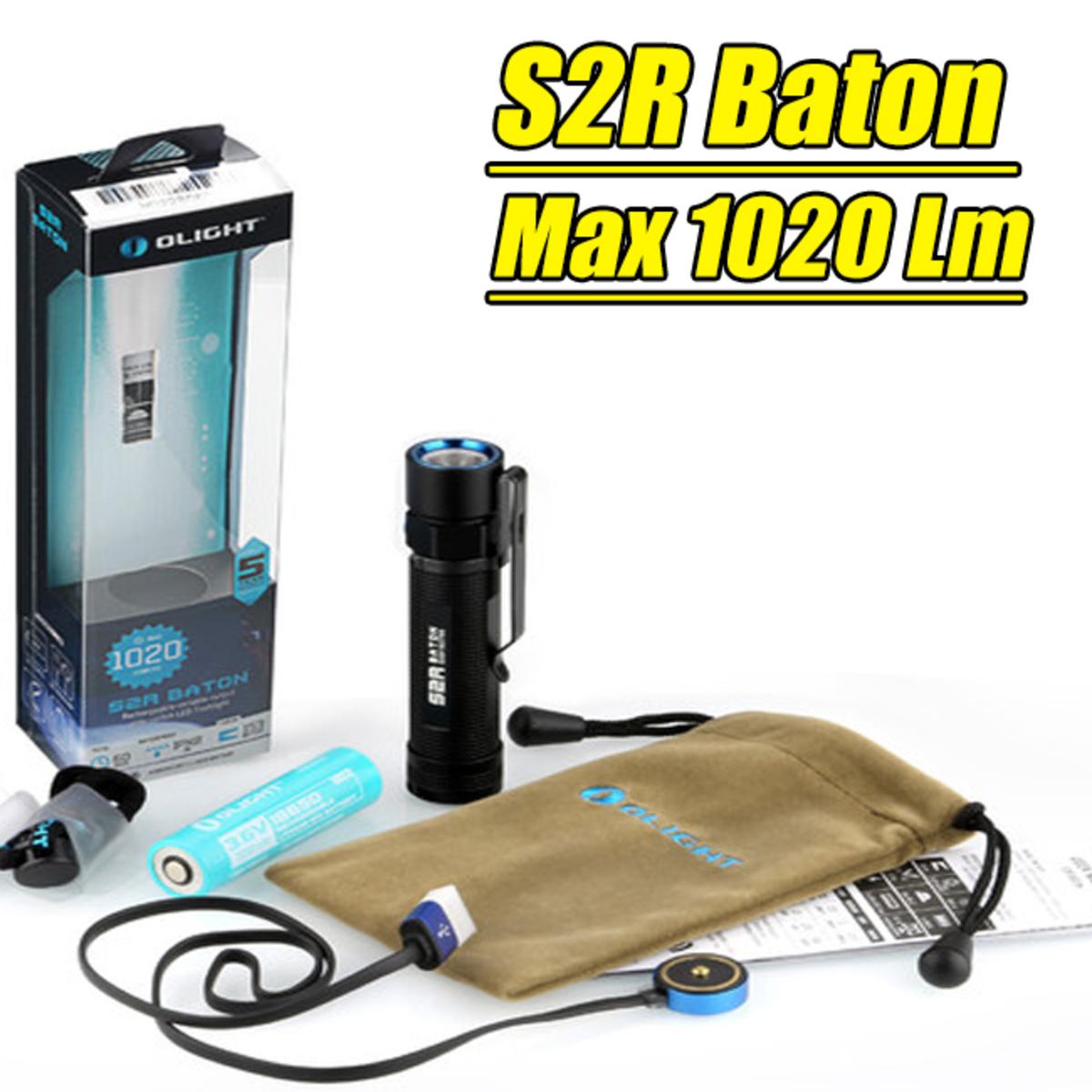 S2R Baton Flashlight 1020LM USB Charge 18650 Li-ion Battery HK Warranty