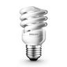 歲尾特價-Philips 8W白光 E27 慳電膽 螺絲頭燈膽 螺旋紧凑型燈泡 3粒裝