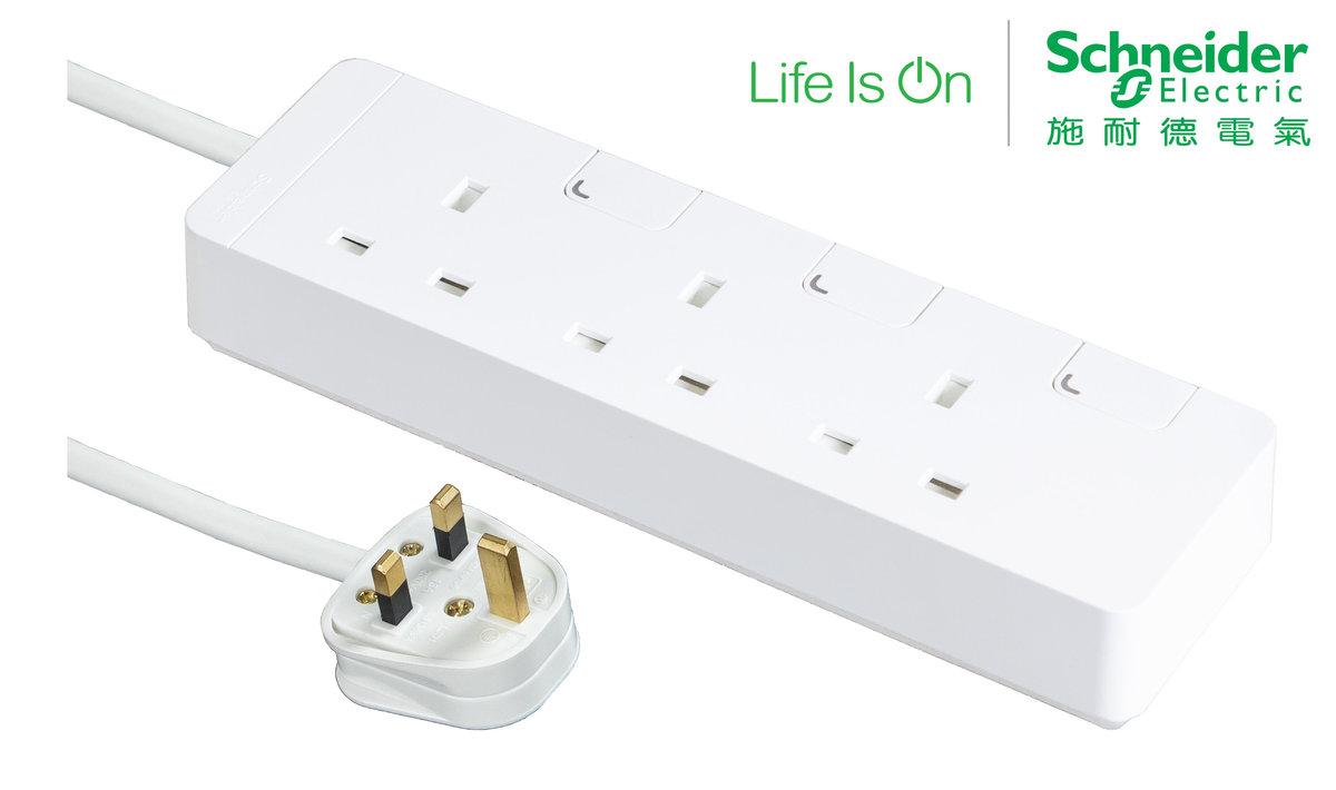 13A三位電源插座連 獨立開關及LED指示燈 (連3米線)