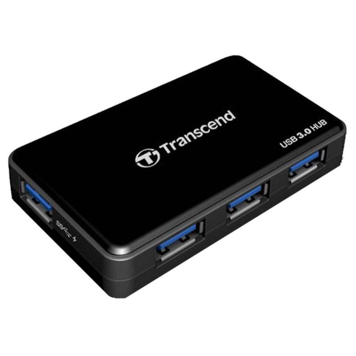 4 PORT USB 3.0 HUB W/ 24W DC POWER ADAPTER ( TS-HUB3K )