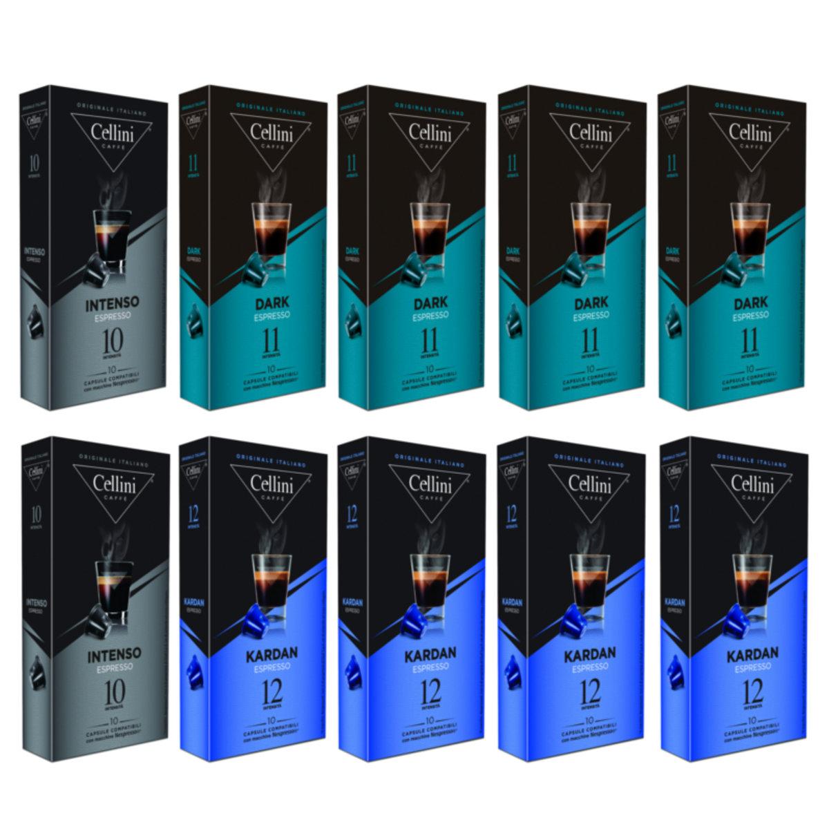 意大利極濃系列咖啡膠囊 10盒套裝 100粒