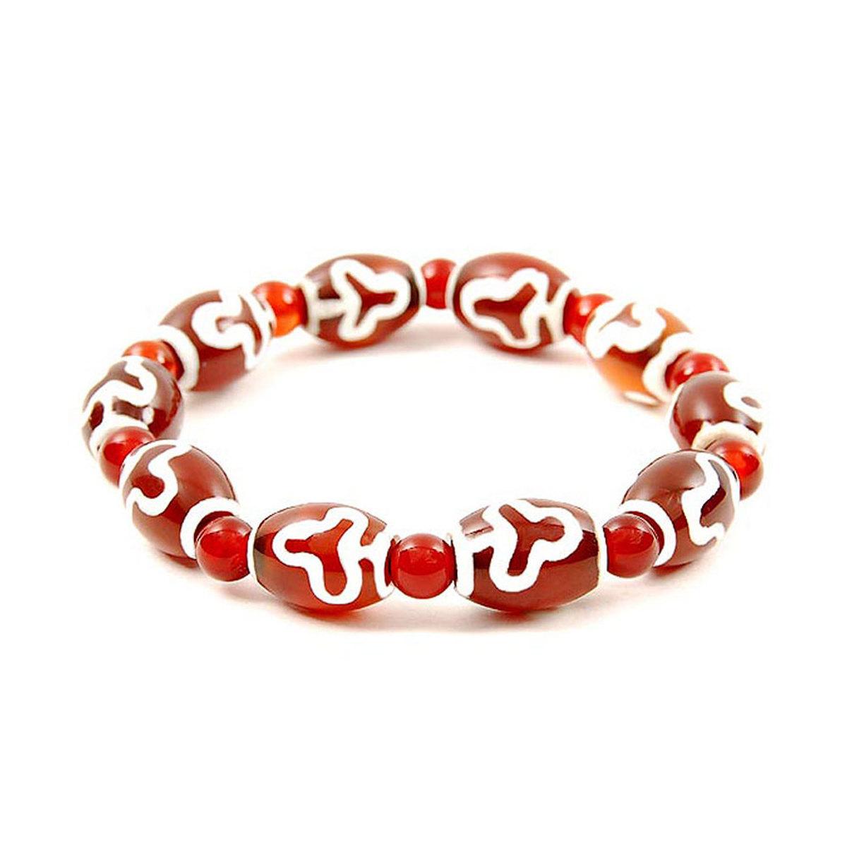 Lucky Dzi Bead Bracelet (10x14mm) - Bodhi