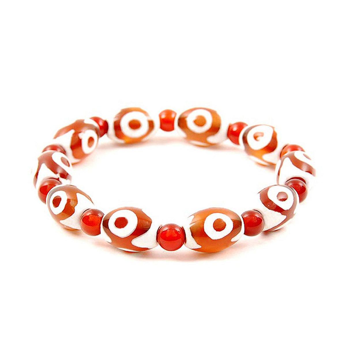 Lucky Dzi Bead Bracelet (10x14mm) - 3 Eyes