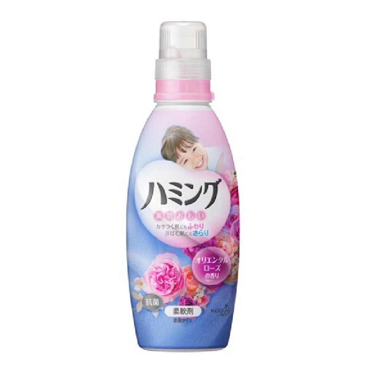 Kao Muscle Anti-Wrinkle Antibacterial Antistatic Concentrated Softener (Pink) # Rose Floral 600ml