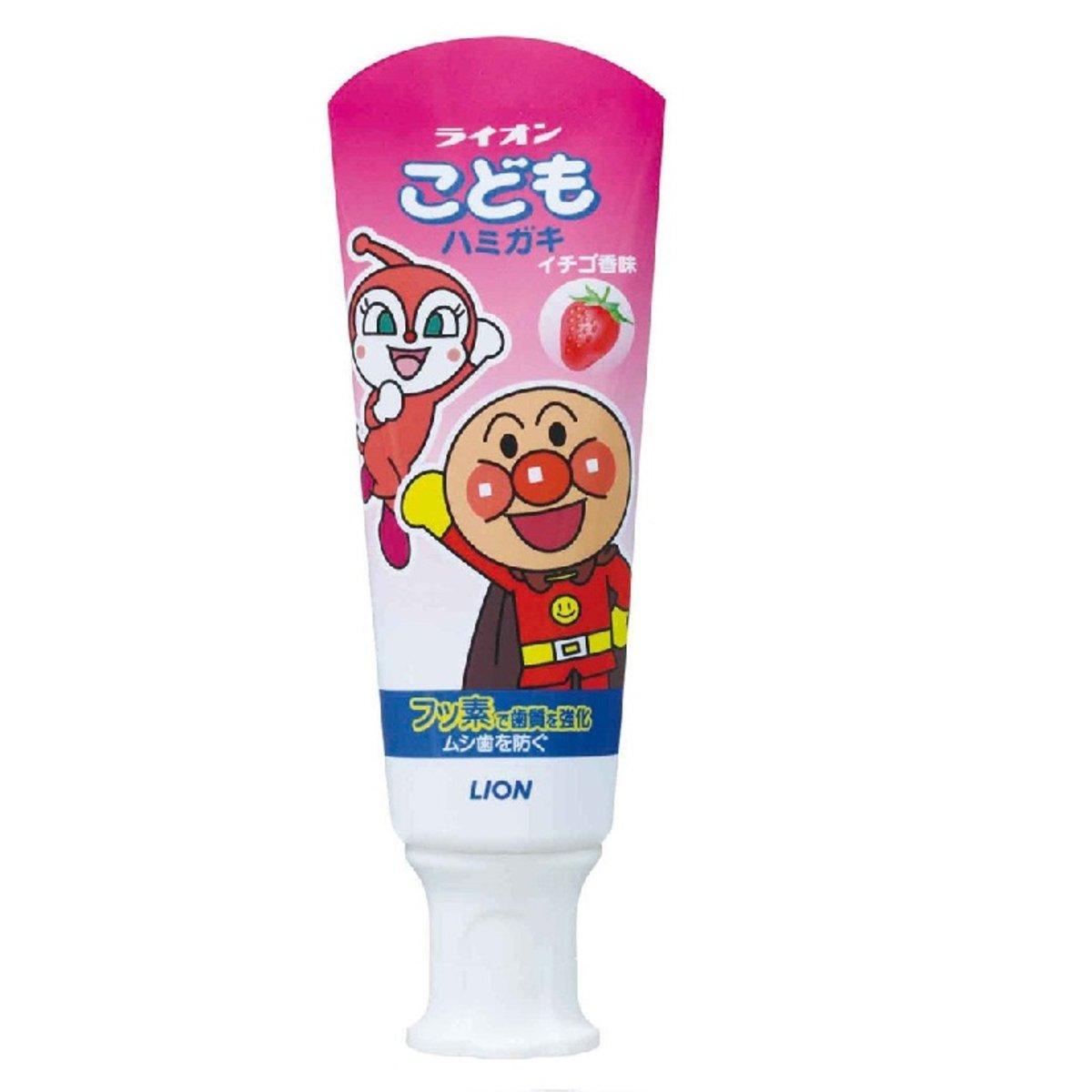 Lion Bread Superman Strengthen Tooth Children's Toothpaste(Pink) #Strawberry 40g