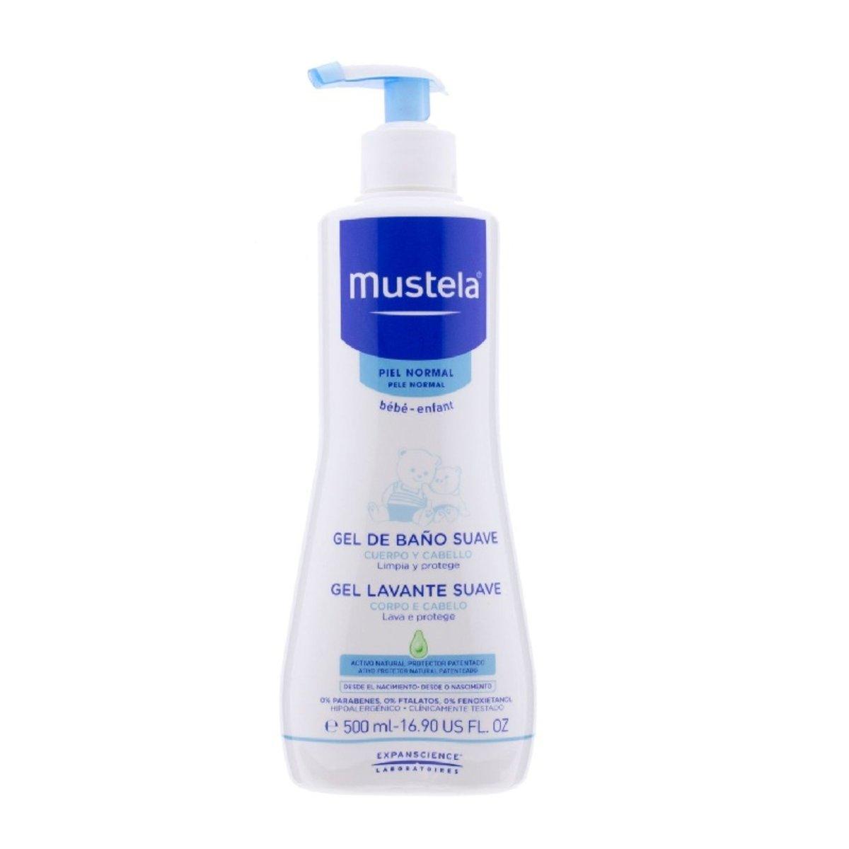 Mustela 二合一髮膚沐浴露啫喱500ml  (平行進口)