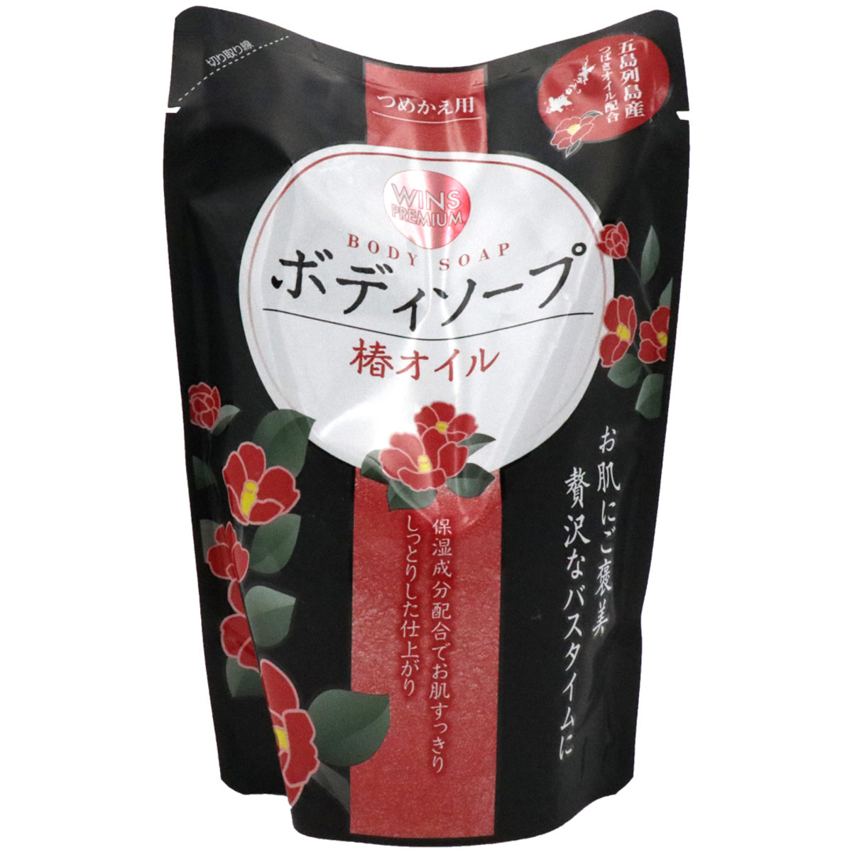 日本合成洗劑 Wins Premium 椿花山茶花油沐浴露補充裝 400ml