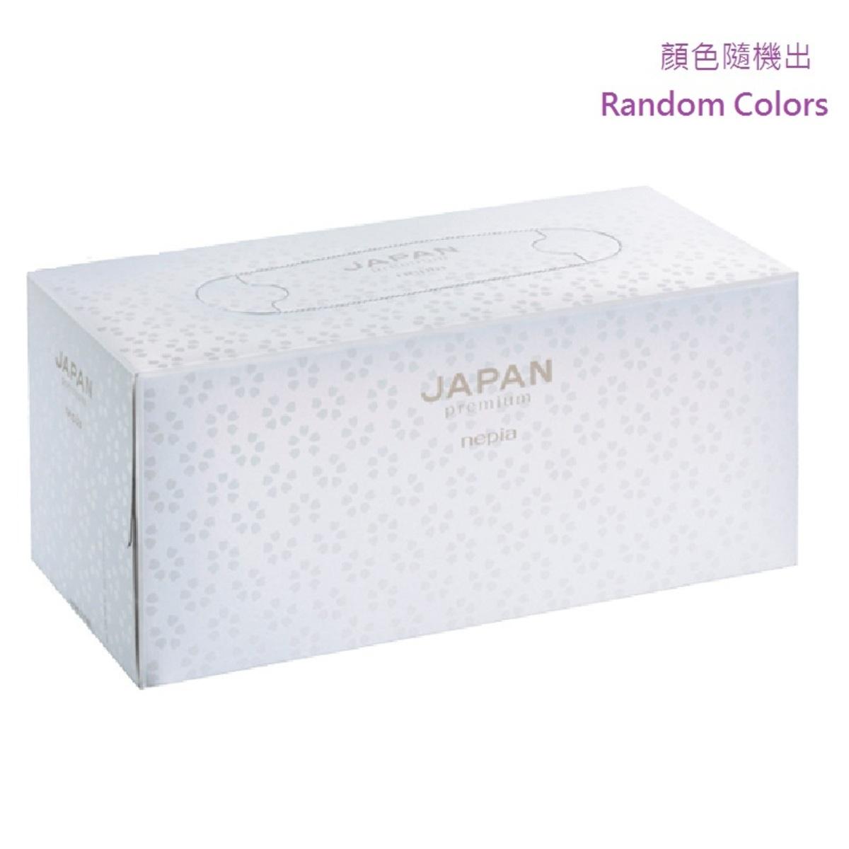 Nepia Japan Premium 優質柔軟鼻敏感紙 (顏色隨機出) 220張