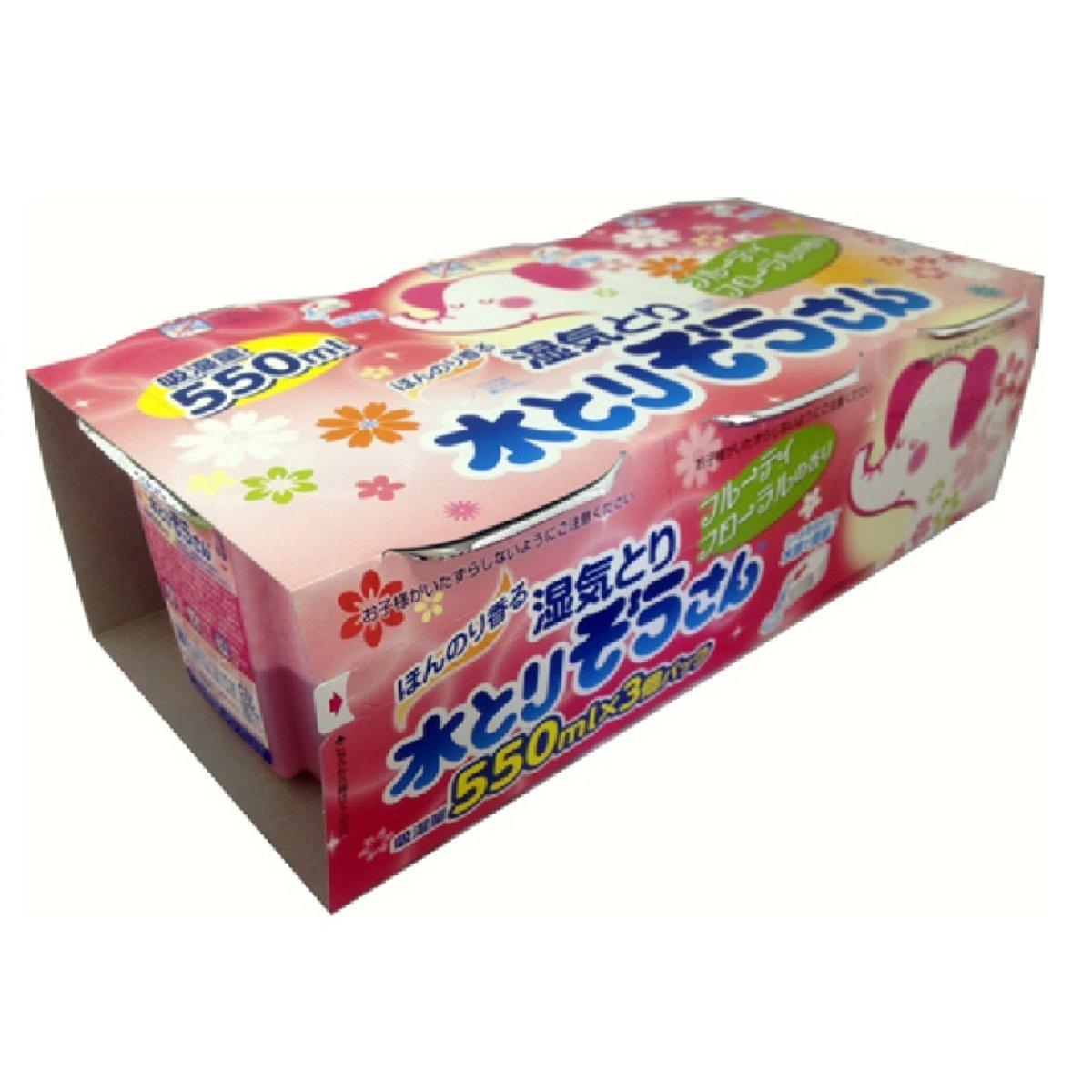 Okamoto 壁櫥櫥櫃衣櫃消臭除濕劑(粉) #花香 550mlX3
