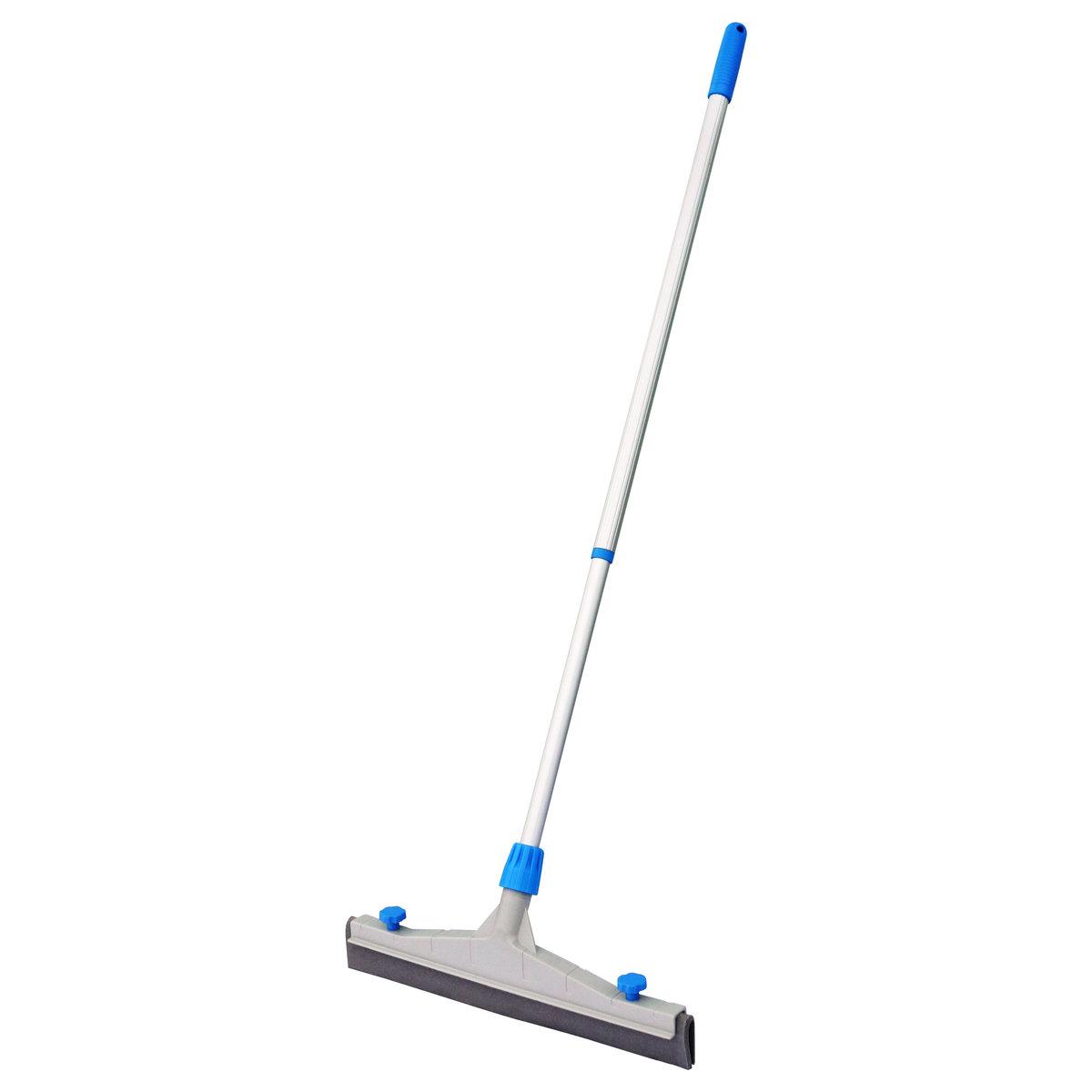 室外推水扒、刮水器-陽台、花園平台等,45cm扒頭+伸縮桿, 藍色