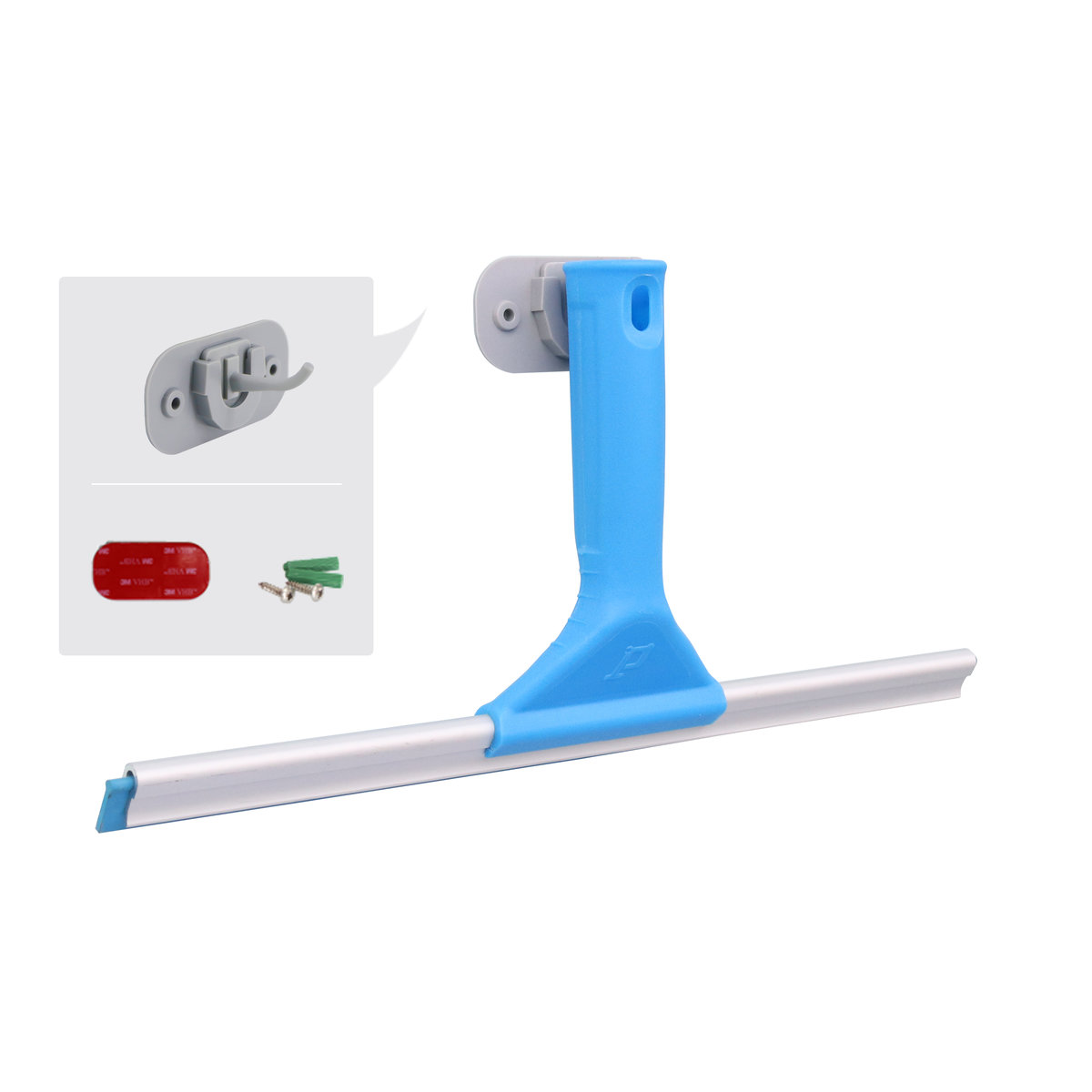 玻璃刮水器/水刮/窗刮連掛鉤套裝,25cm(免釘, 免打孔, 3M貼掛鉤, 可收納懸掛玻璃刮)[HT-PHC019]