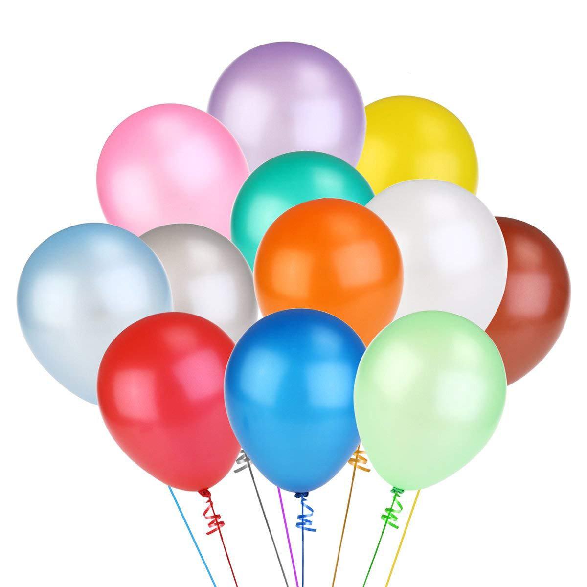 【100個】12寸氣球 光亮色乳膠氣球 100個隨機顏色