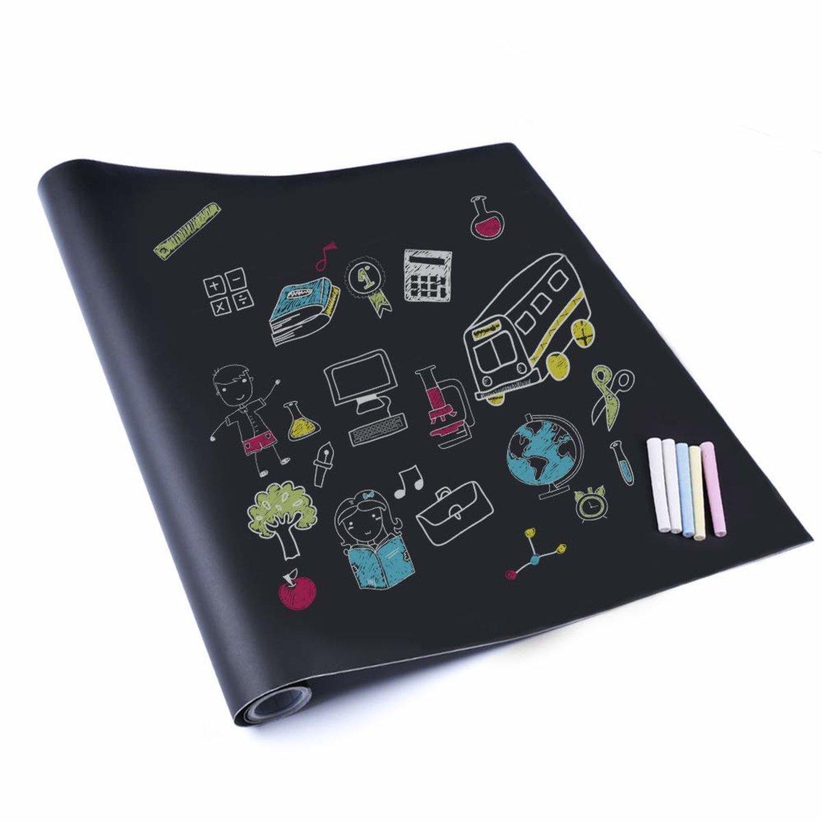 黑板貼紙 粉筆板牆紙 44.5*200CM 附送5支粉筆
