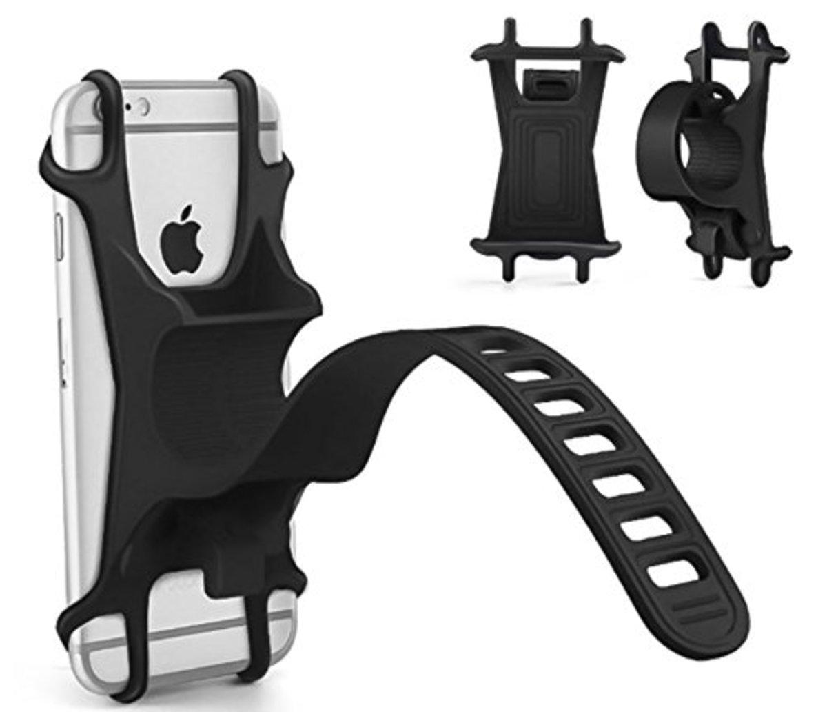 單車電單車矽膠手機支架 鋁合金 適合大部分Apple iPhone及Android智能手機
