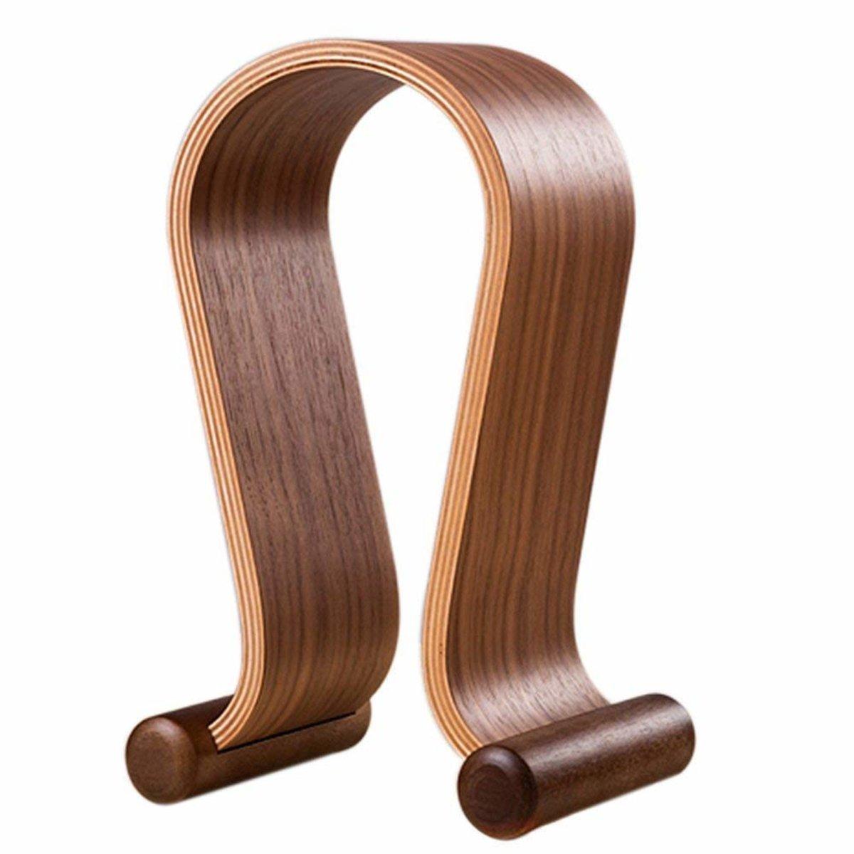 頭戴式耳機支架 遊戲耳機展示架 u型木質耳機架