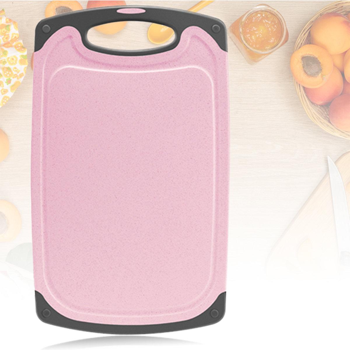 環保小麥秸稈砧板 33厘米x 20厘米 凹槽設計 廚房蔬菜切割板 易易於清潔 防滑 無BPA