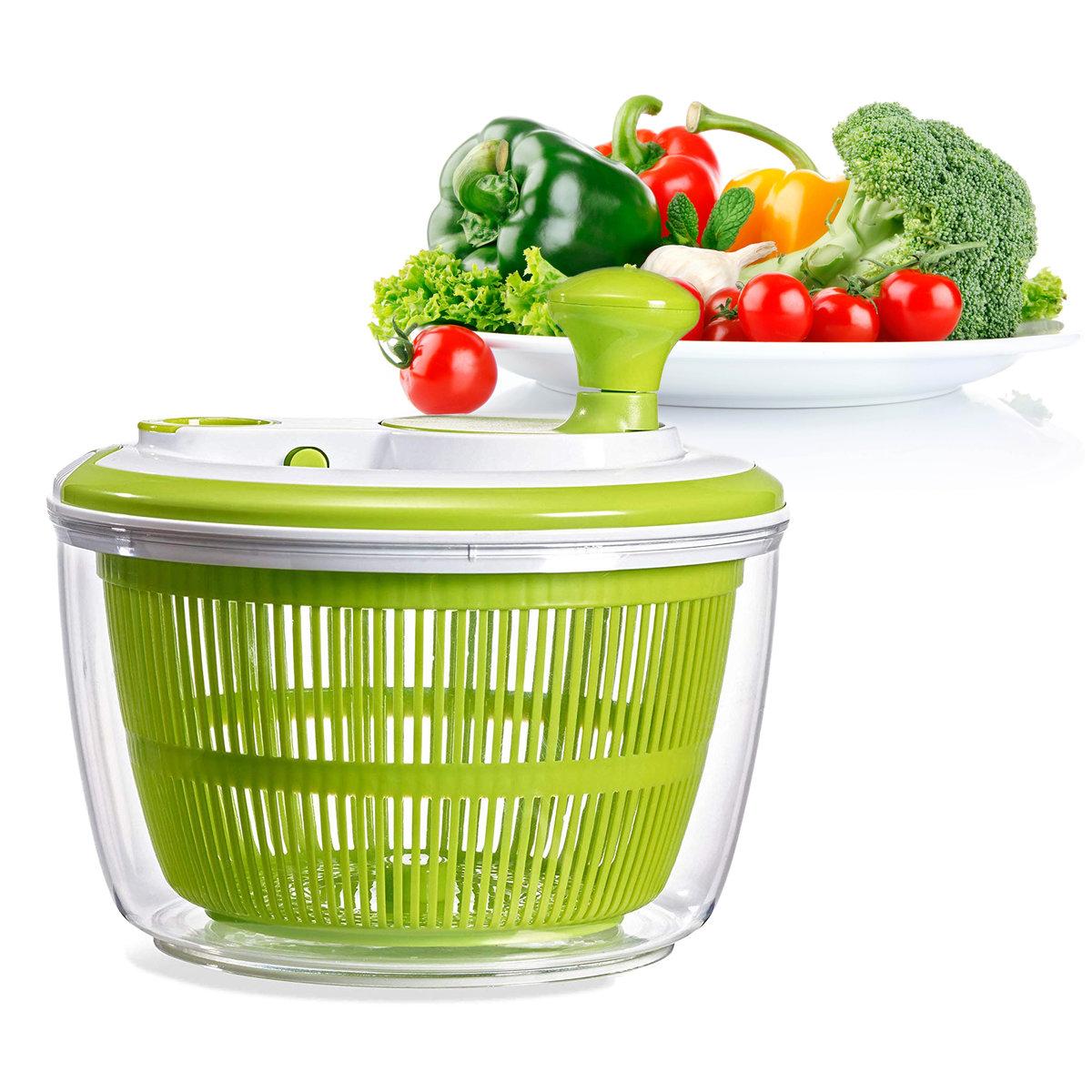 廚房用品 手動快速脫水 蔬菜 水果 沙律 脫水器 瀝水籃 收納碗