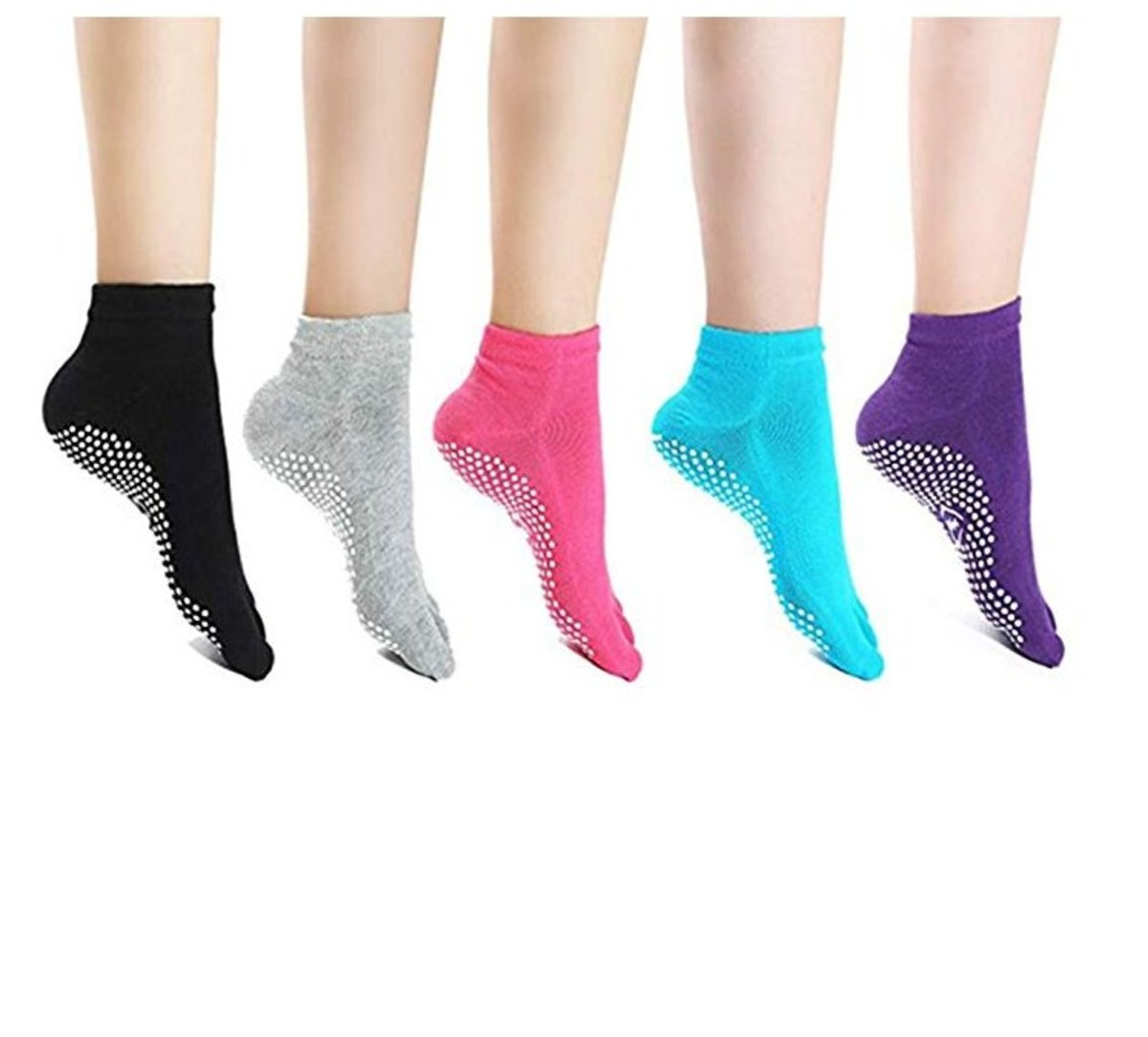 Women Yoga Non-slip Pilates Barre Soft Wrap Open-toed Dance Training Shoes F HK