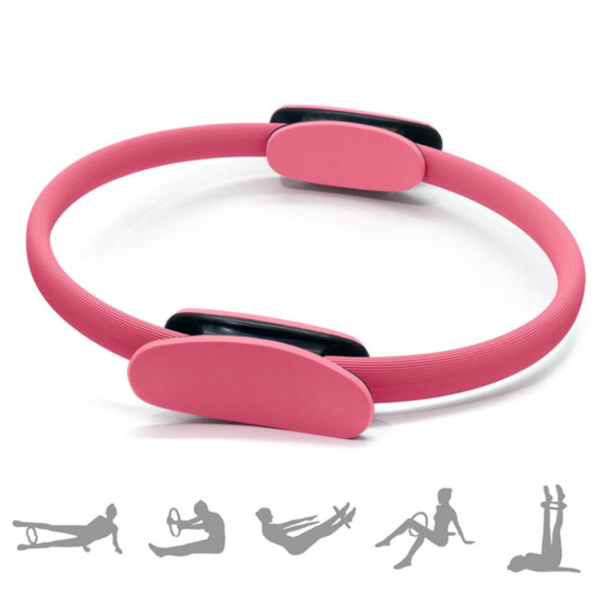 瑜珈普拉提圈 美體健身魔力圈瑜伽圈 瑜伽環普拉阻力環 月牙手柄普拉提圈瑜伽用品