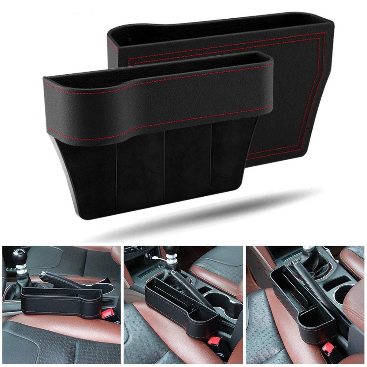 Car Seat Side Pocket Organizer Filler Gap Space Catcher Storage Box Bottle Cup Holder Interior
