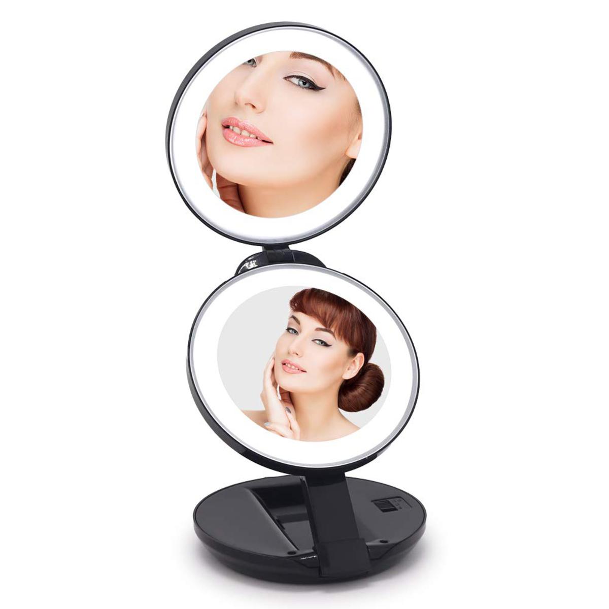 Lighted Handheld Makeup Mirror Saubhaya Makeup