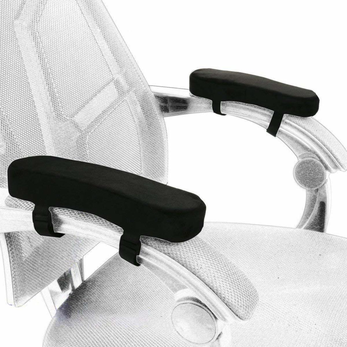 【Set of 2】Foam Chair Armrest Pad Comfy Office Chair Arm Rest Cover for Elbows Pressure Relief