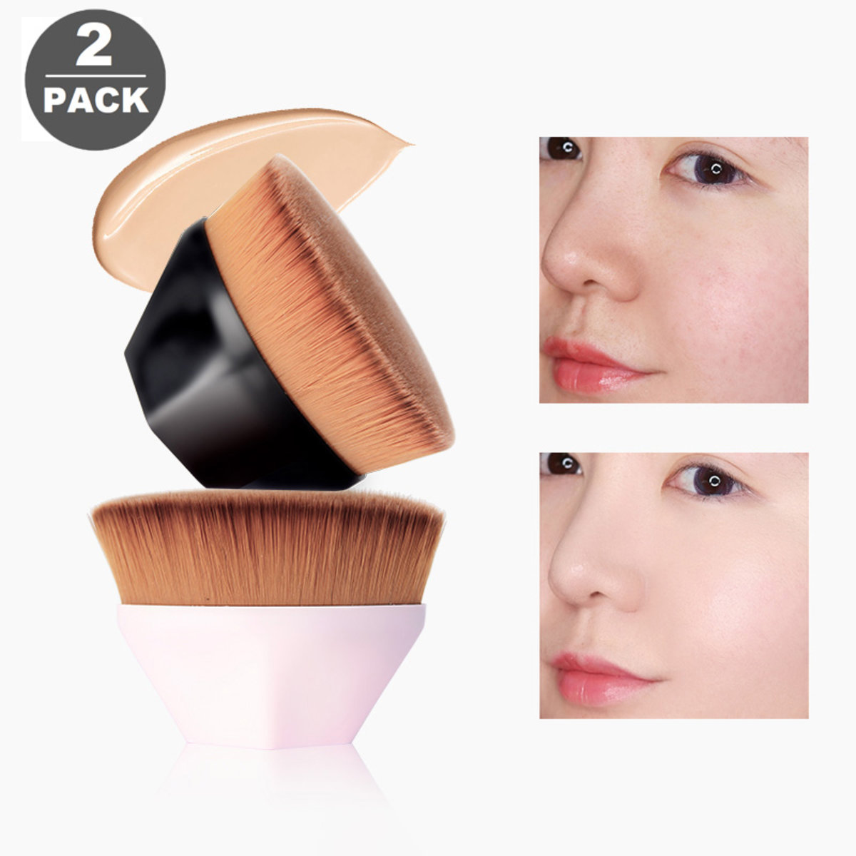 【2 packs】Makeup Brush Colorful 55Th Magic Seamless Foundation Brush